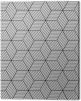 Canvastavla Sömlös geometriska mönster med kuber.