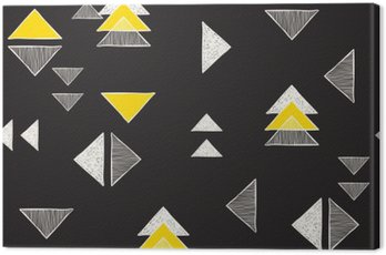 Canvastavla Sömlös handritade trianglar mönster.