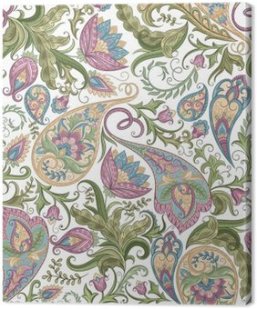 Canvastavla Sömlös paisley mönster