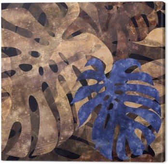 Canvastavla Sömlös repeterbar monstera blad bakgrund