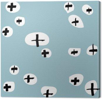 Canvastavla Sömlösa mönster handritade. Mönster för användning på omslagspapper, gratulationskort och presentprodukter
