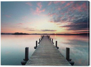 Canvastavla Sommermorgen mit Sonnenaufgang