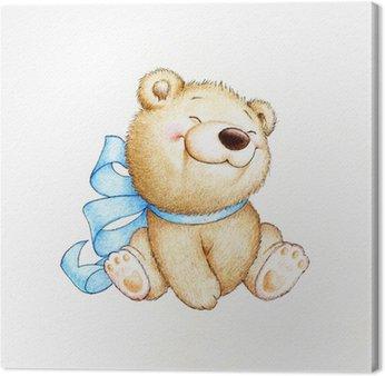 Canvastavla Söt nallebjörn