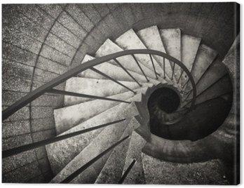 Canvastavla Spiraltrappa