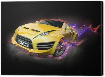 Canvastavla Sportbil utbrändhet