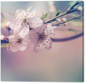 Canvastavla Spring kort bakgrund