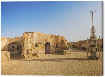 Canvastavla Star wars movie dekoration i Saharaöknen, Tunisien