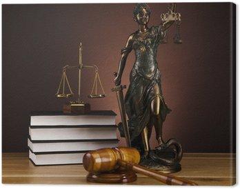 Canvastavla Staty av lady rättvisa