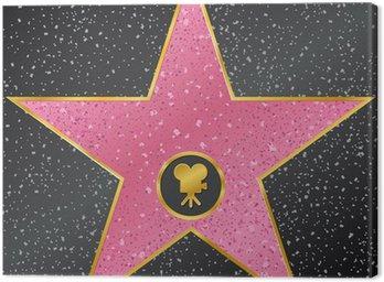 Canvastavla Stjärna. Hollywood Walk of Fame