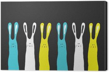 Canvastavla Stora färger kaniner bakgrund, vektor illustration