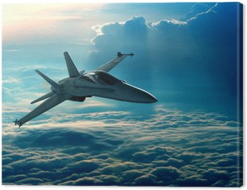 Canvastavla Stridsflygplan