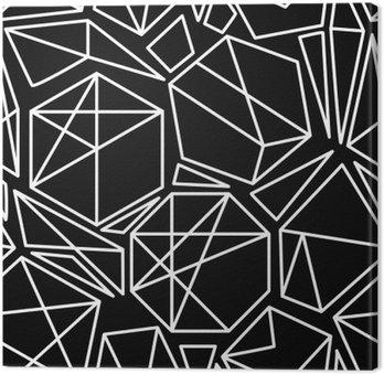 Canvastavla Svart och vitt vektor geometriska seamless