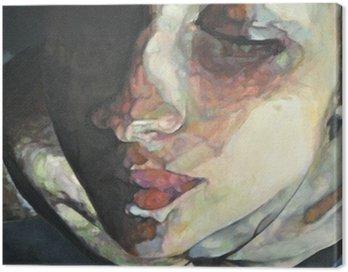 Canvastavla Tabell över kvinnligt ansikte