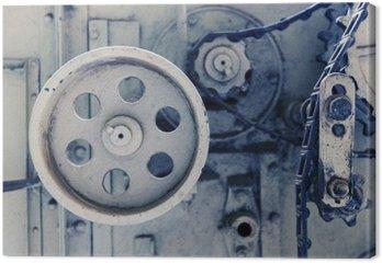 Canvastavla Tappning mekanism maskin på fabrik