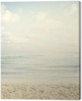 Canvastavla Tappning tropisk strand i sommar