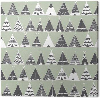 Canvastavla Teepee indian sommar tält illustration.
