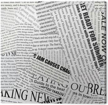 Canvastavla Tidningspapper Bakgrund