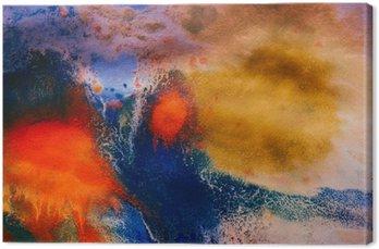 Canvastavla Torkade stråk av flerfärgad färg med sprickor