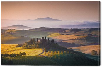 Canvastavla Toscana panorama