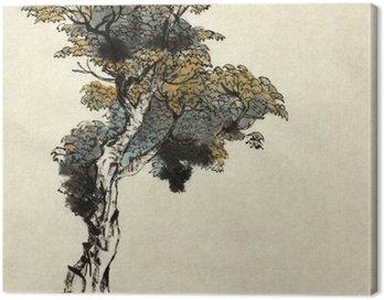 Canvastavla Träd ritning exempel