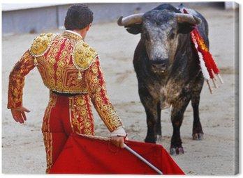 Canvastavla Traditionell Corrida - tjurfäktning i Spanien