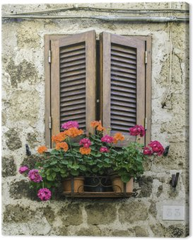 Canvastavla Traditionella italienska hem