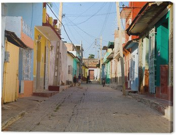 Canvastavla Trinidad färger