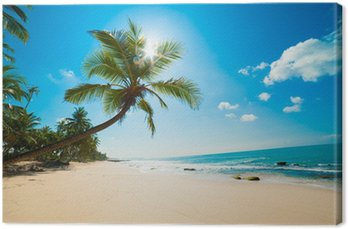 Canvastavla Tropisk strand