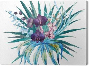 Canvastavla Tropiska blommor sammansättning