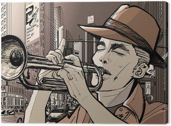 Canvastavla Trumpetare i new-york