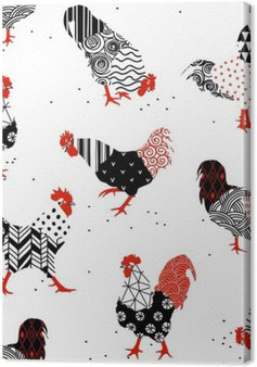 Canvastavla Tuppar med mönster
