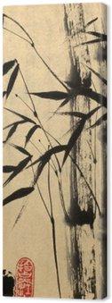 Canvastavla Två bambu träd
