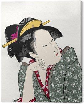 Canvastavla Ukiyo Emoji Edo skönhet målning 15