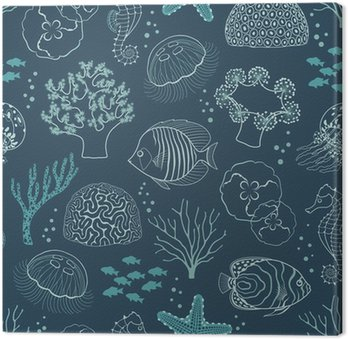 Canvastavla Underwater livsmönster