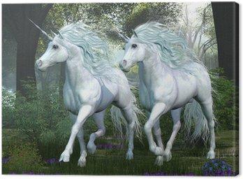 Canvastavla Unicorn Elm Forest