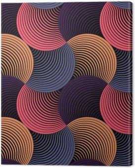 Canvastavla Utsmyckade geometriska Petals Grid, abstrakt vektor sömlösa mönster