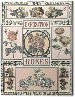 Canvastavla Utställning av Roses