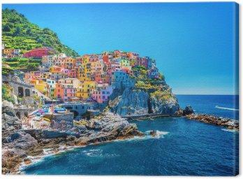 Canvastavla Vacker färgrik stadsbild