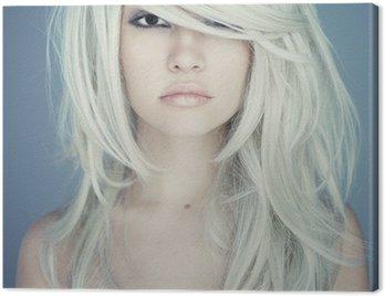 Canvastavla Vacker kvinna med magnifika hår
