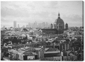 Canvastavla Vacker retro utsikt över Paris