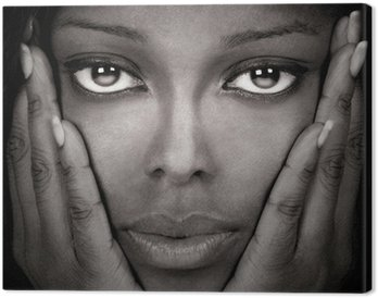 Canvastavla Vacker svart kvinna
