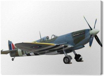 Canvastavla Vackert restaurerade vintage WW2 Spitfire isolerade på vit