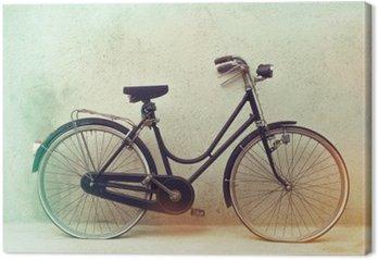 Canvastavla Vackra gamla rostig cykel retro med enorma effektfärger på