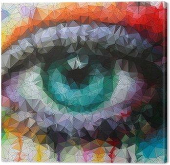 Canvastavla Vackra ögon i geometrisk styling abstrakt geometrisk bakgrund