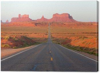 Canvastavla Vägen till Monument Valley