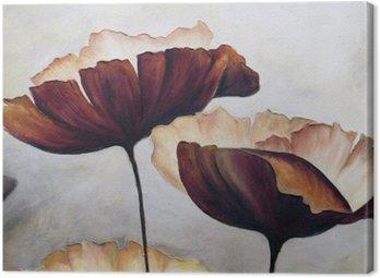 Canvastavla Vallmo abstrakt målning