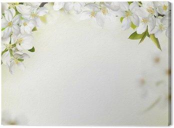 Canvastavla Våren cherry blossom bakgrunder