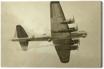 Canvastavla Världskriget amerikanska bombplan