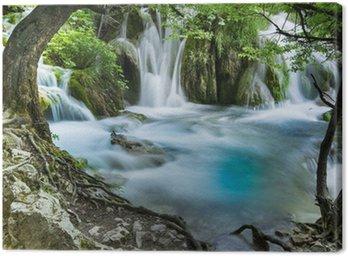 Canvastavla Vattenfall Plitvice