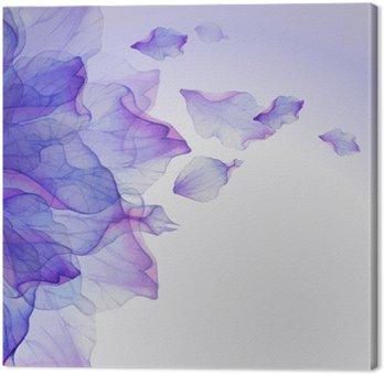 Canvastavla Vattenfärg blommor runda mönster.